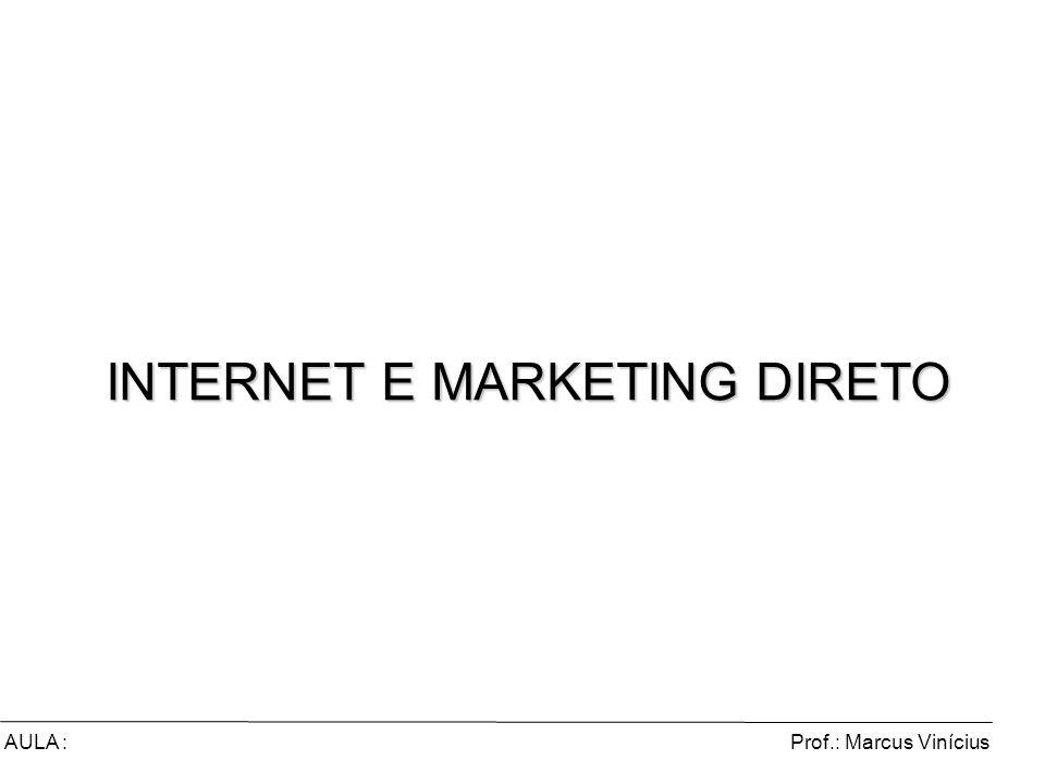 Prof.: Marcus ViníciusAULA : INTERNET E MARKETING DIRETO