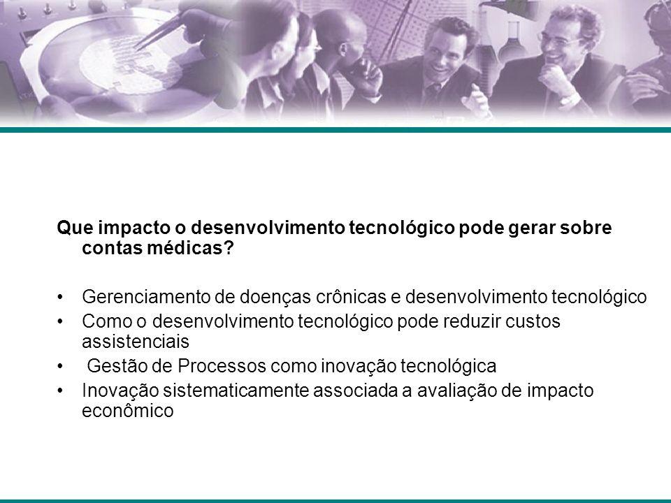 Que impacto o desenvolvimento tecnológico pode gerar sobre contas médicas? Gerenciamento de doenças crônicas e desenvolvimento tecnológico Como o dese
