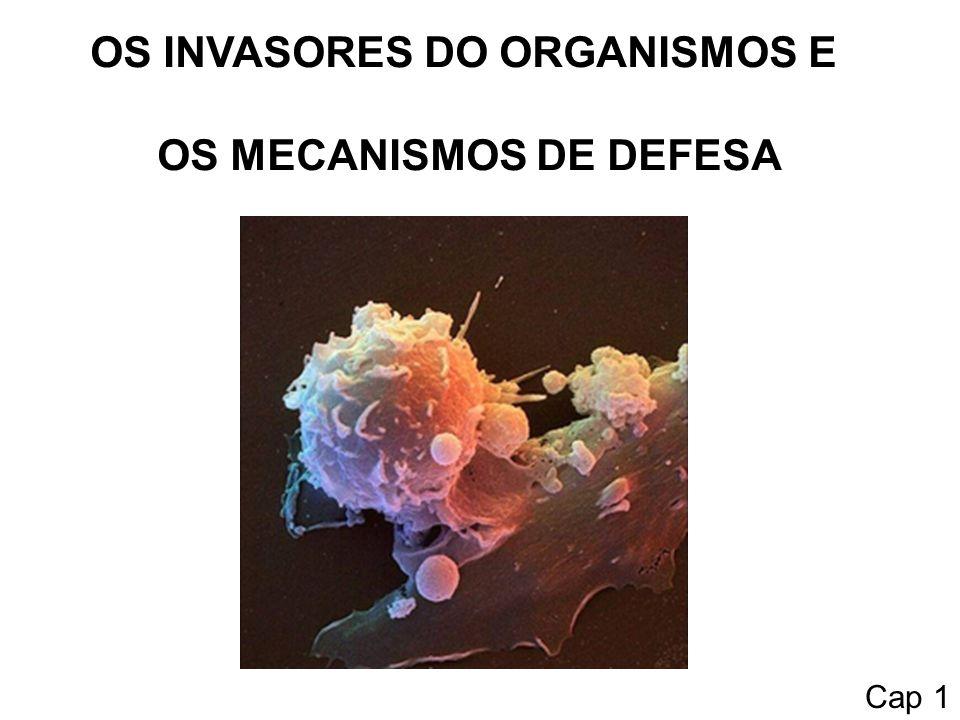 OS INVASORES DO ORGANISMOS E OS MECANISMOS DE DEFESA Cap 1