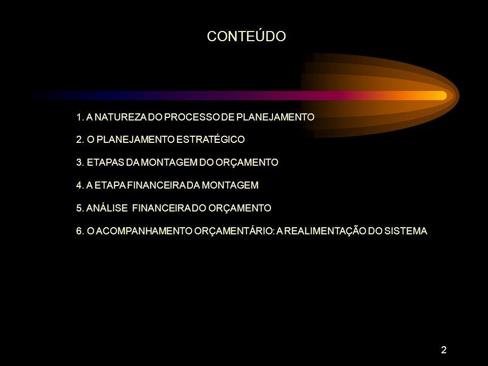 3 A NATUREZA DO PROCESSO DE PLANEJAMENTO 1