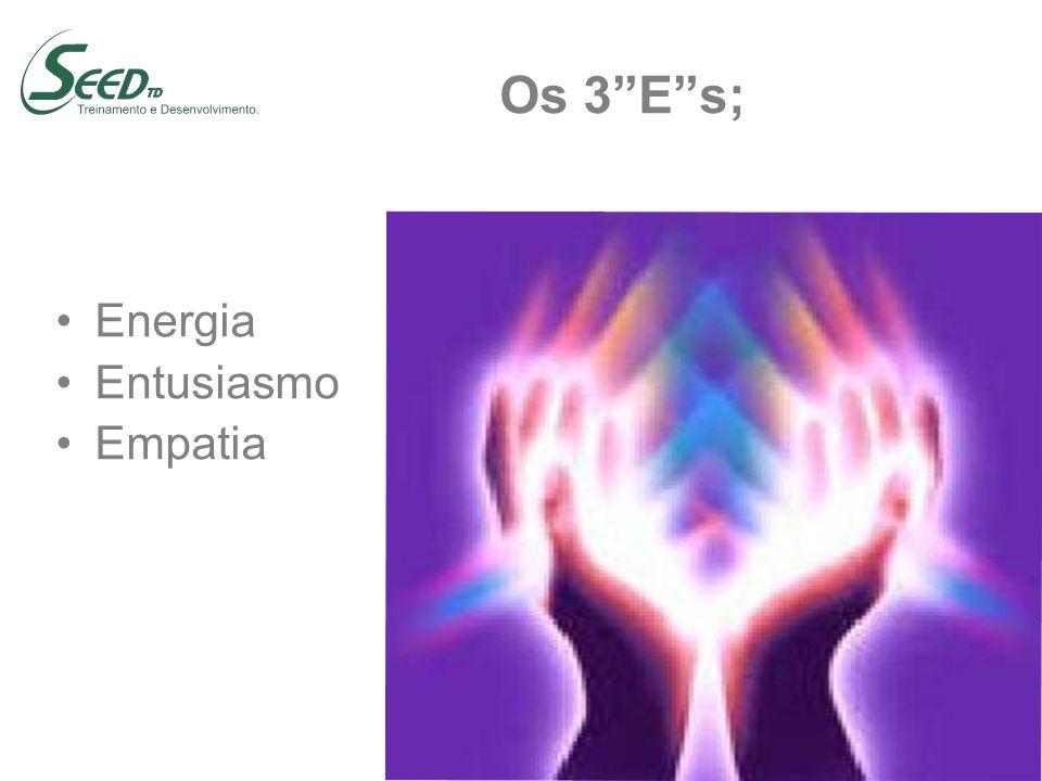 Os 3Es; Energia Entusiasmo Empatia