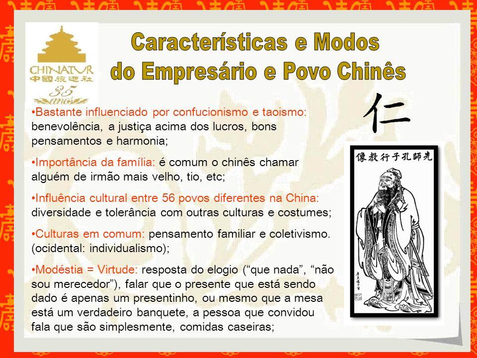 Bastante influenciado por confucionismo e taoismo: benevolência, a justiça acima dos lucros, bons pensamentos e harmonia; Importância da família: é co