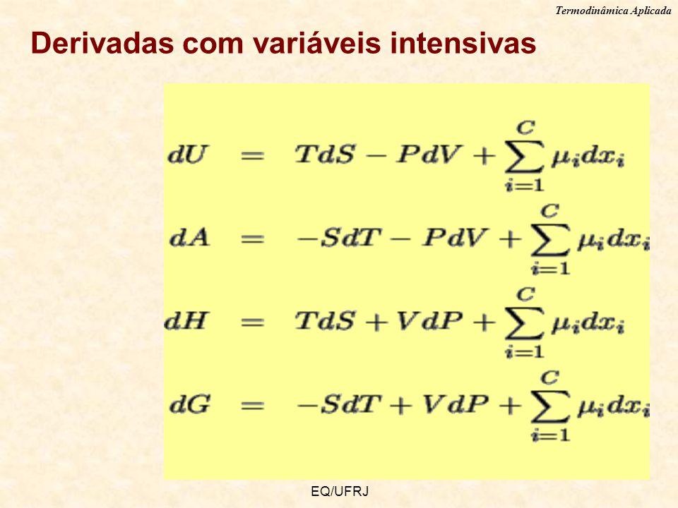 Termodinâmica Aplicada EQ/UFRJ Derivadas com variáveis intensivas