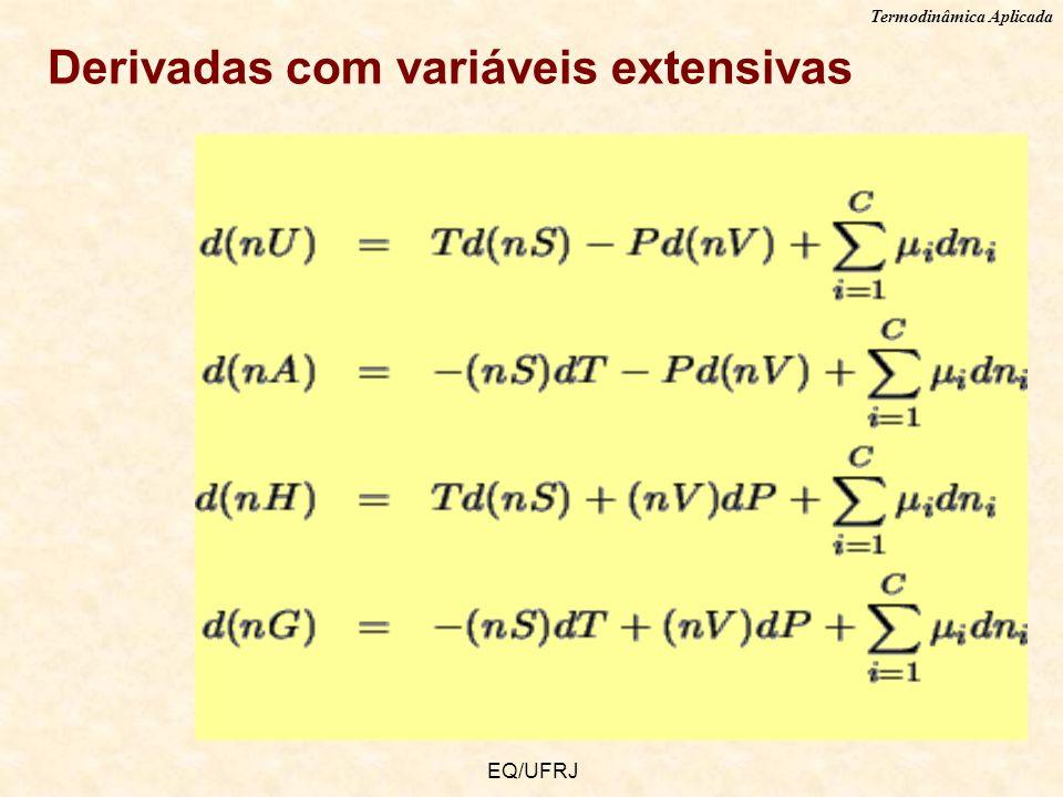 Termodinâmica Aplicada EQ/UFRJ Derivadas com variáveis extensivas
