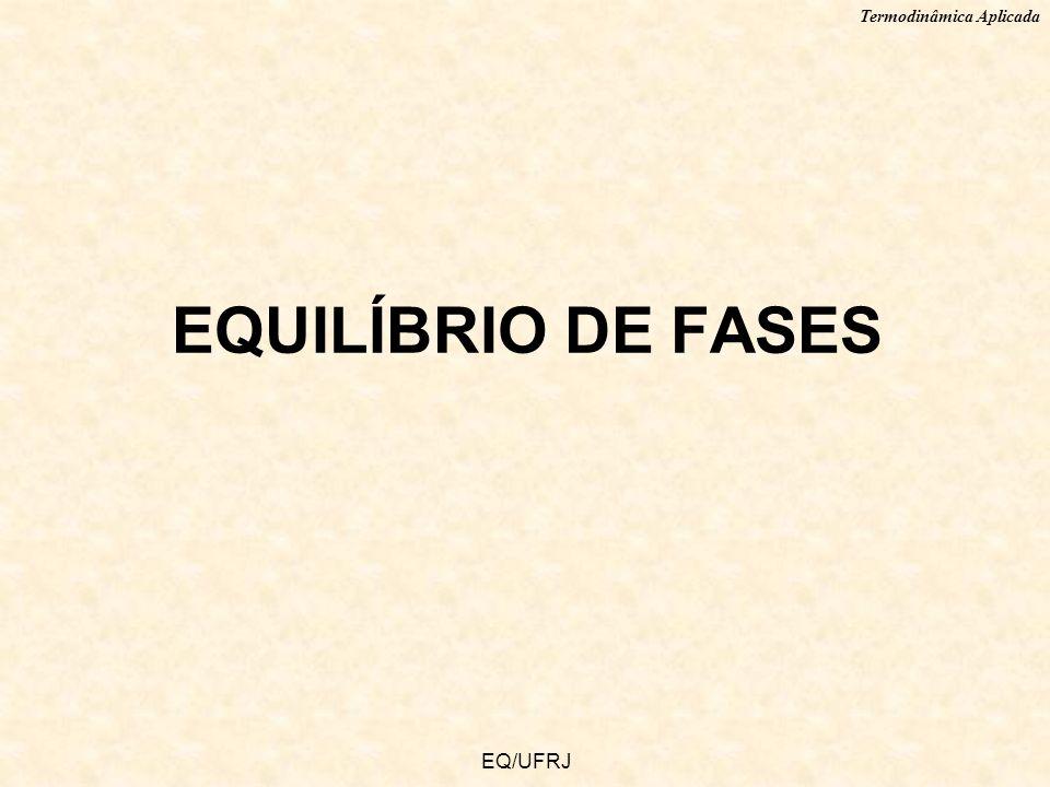 Termodinâmica Aplicada EQ/UFRJ EQUILÍBRIO DE FASES