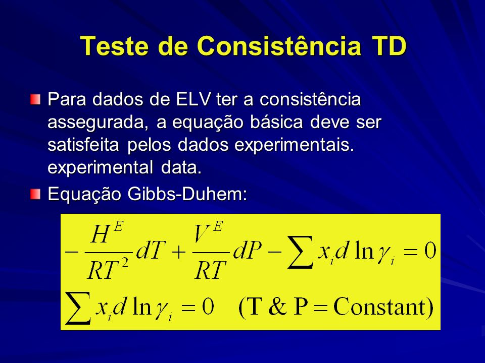 Teste Integral (teste da área) Smith (1984): razão Área = 0-0.6 dados inaceitáveis = 0.6-0.8 dados marginais = 0.6-0.8 dados marginais = 0.8-0.9 dados regulares = 0.8-0.9 dados regulares = 0.9-0.95 dados bons = 0.9-0.95 dados bons = 0.95-1.0 dados excelentes = 0.95-1.0 dados excelentes
