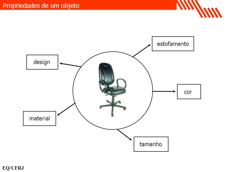 Propriedades de um objeto EQ/UFRJ estofamento cor material design tamanho