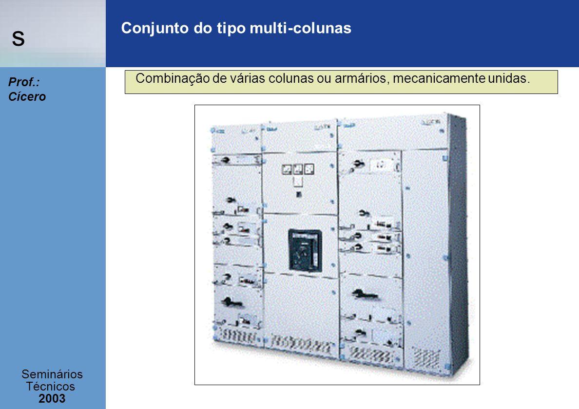 s Seminários Técnicos 2003 Prof.: Cícero Conjunto do tipo multi-colunas Combinação de várias colunas ou armários, mecanicamente unidas.