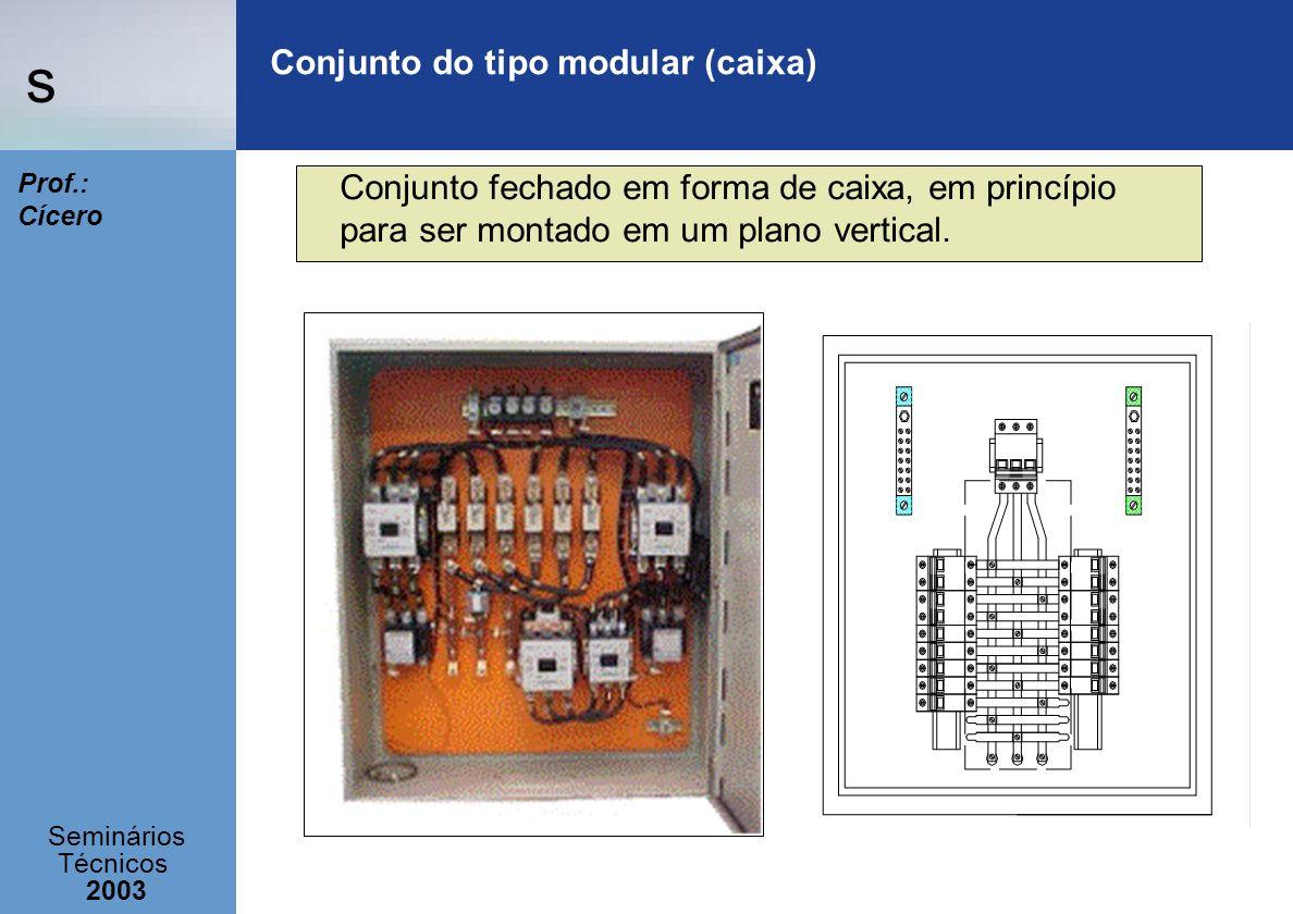 s Seminários Técnicos 2003 Prof.: Cícero Conjunto do tipo modular (caixa) Conjunto fechado em forma de caixa, em princípio para ser montado em um plan