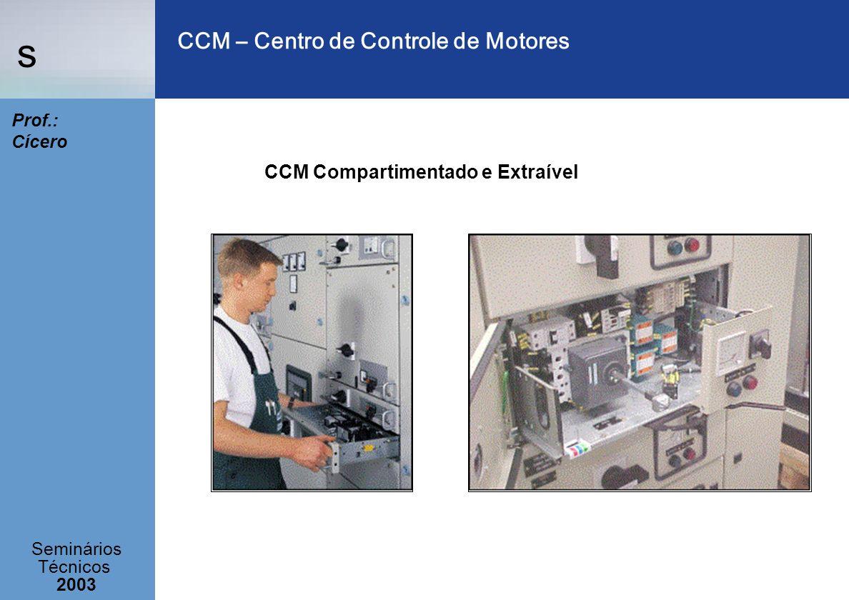 s Seminários Técnicos 2003 Prof.: Cícero CCM – Centro de Controle de Motores CCM Compartimentado e Extraível