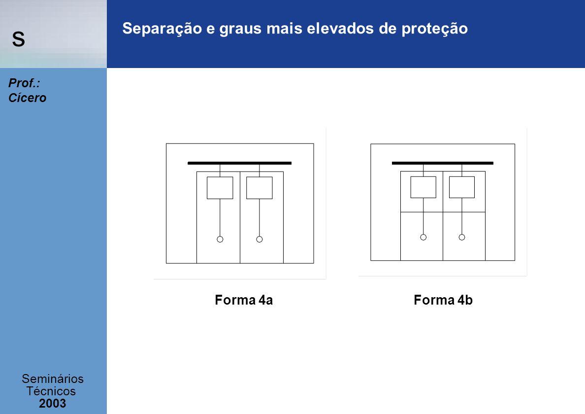 s Seminários Técnicos 2003 Prof.: Cícero Separação e graus mais elevados de proteção Forma 4aForma 4b