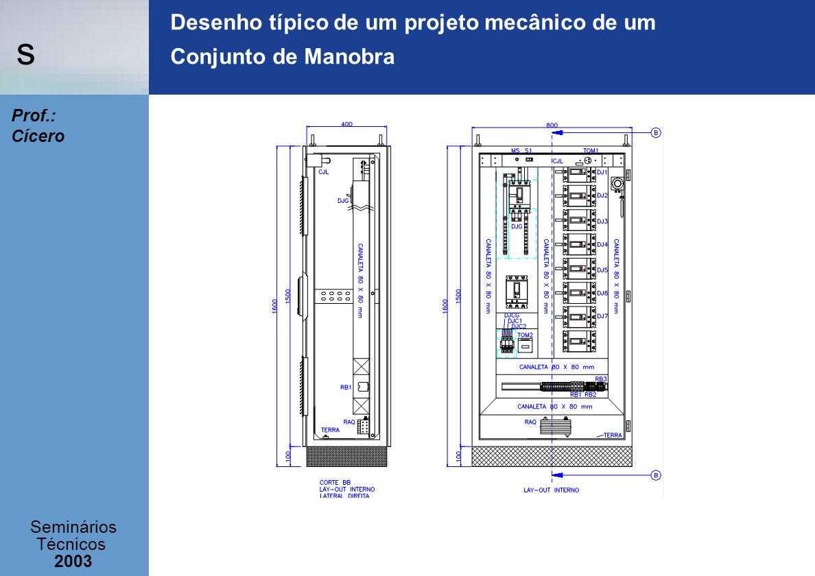 s Seminários Técnicos 2003 Prof.: Cícero Desenho típico de um projeto mecânico de um Conjunto de Manobra