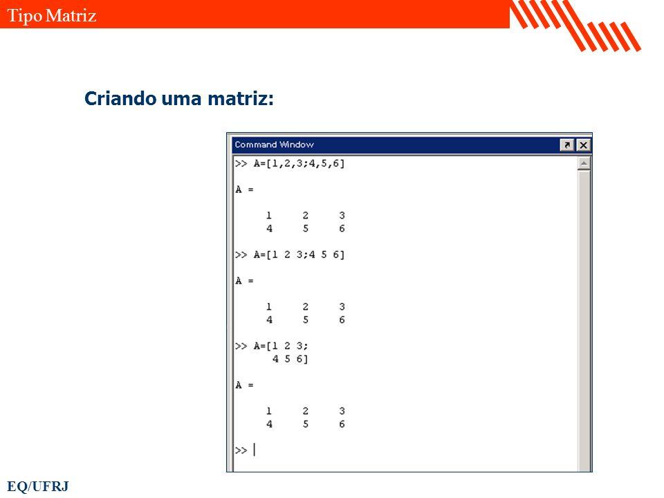 EQ/UFRJ Criando uma matriz: Tipo Matriz