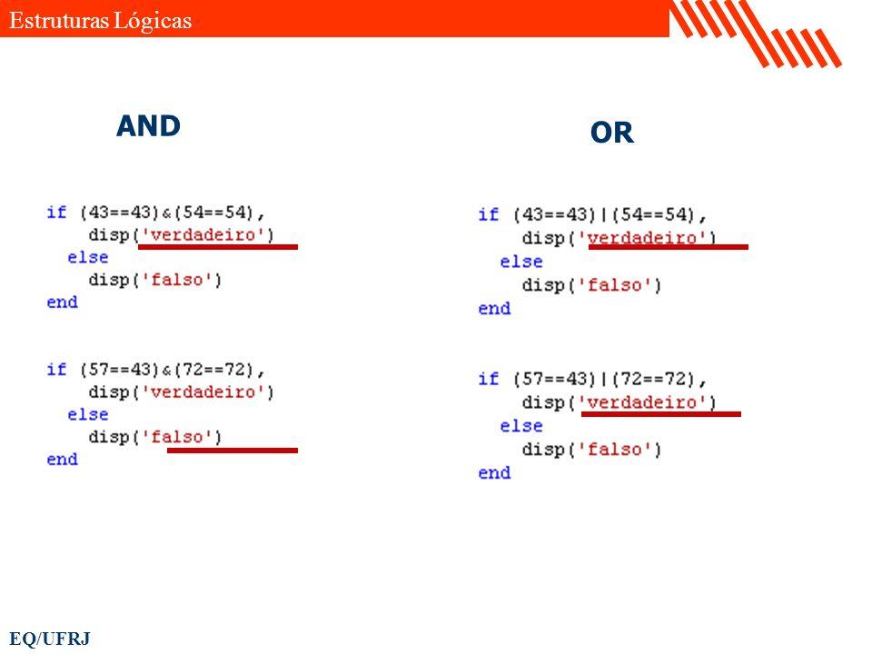 EQ/UFRJ Estruturas Lógicas AND OR
