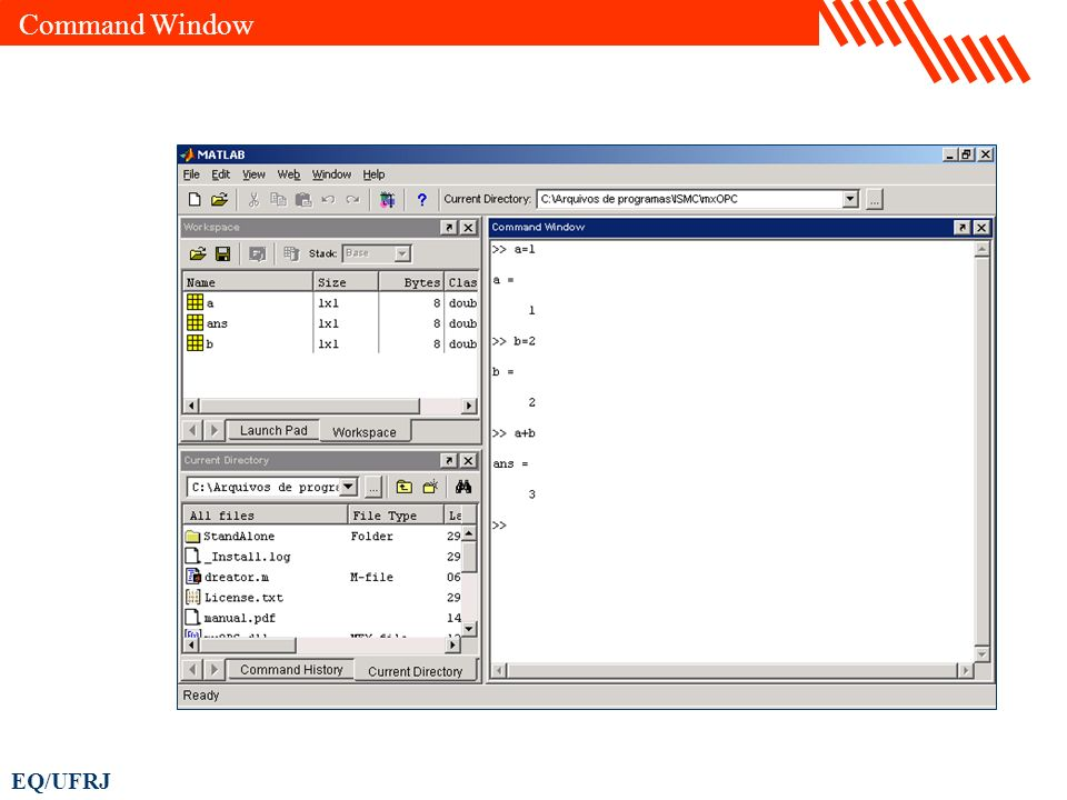 EQ/UFRJ Command Window