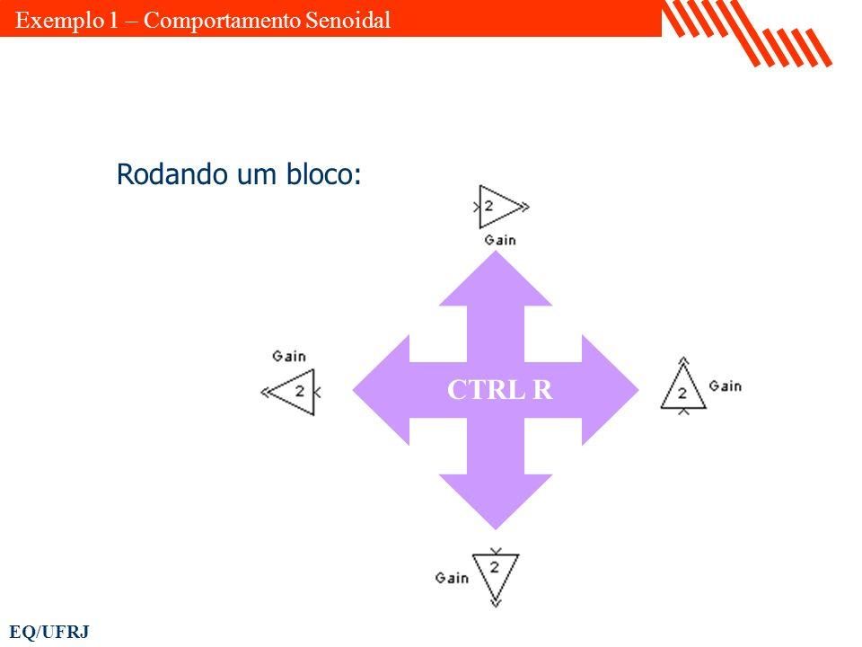 EQ/UFRJ Rodando um bloco: CTRL R Exemplo 1 – Comportamento Senoidal