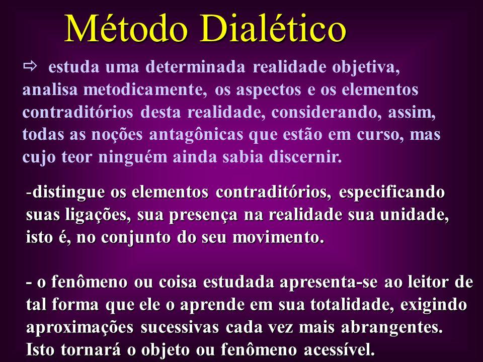 Movimento da totalidade para a contradição da contradição para a totalidade.