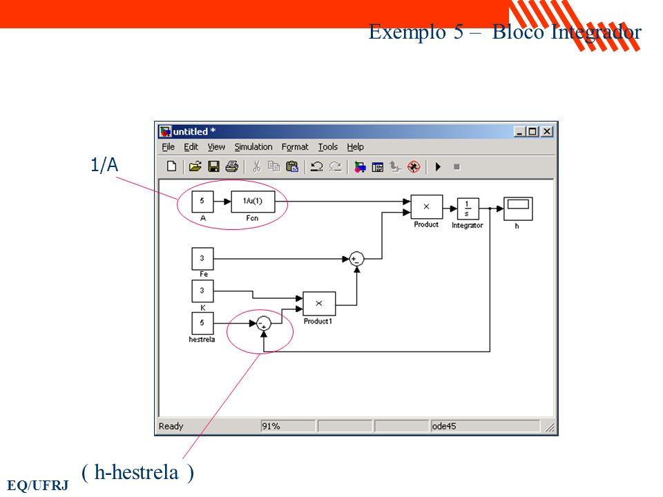 EQ/UFRJ Exemplo 5 – Bloco Integrador 1/A ( h-hestrela )