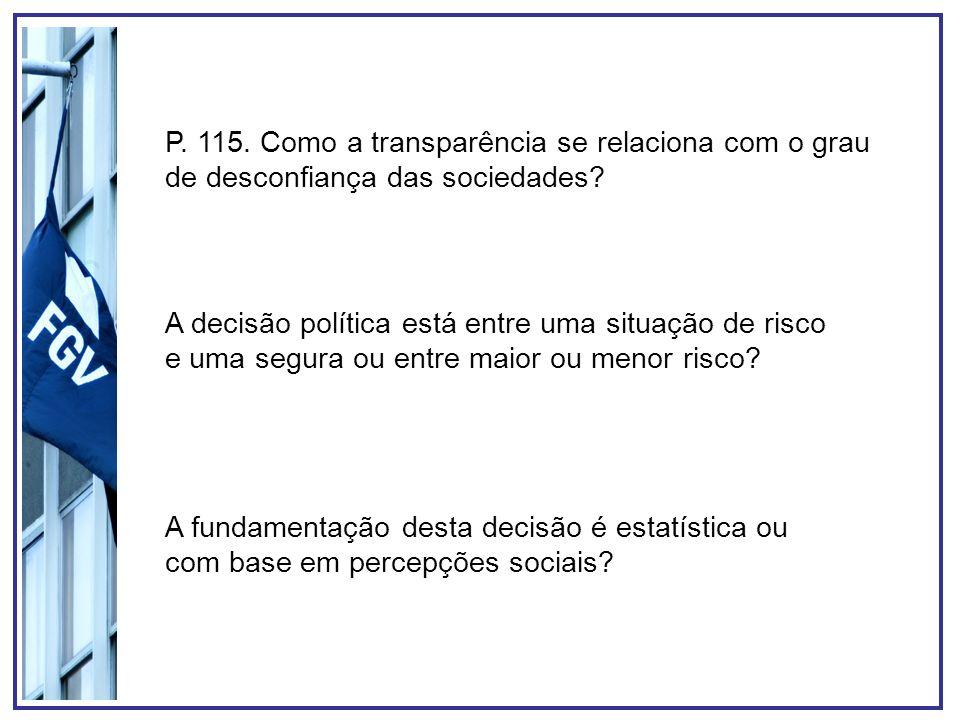 P.116. Contexto. Formas de regulação do risco.