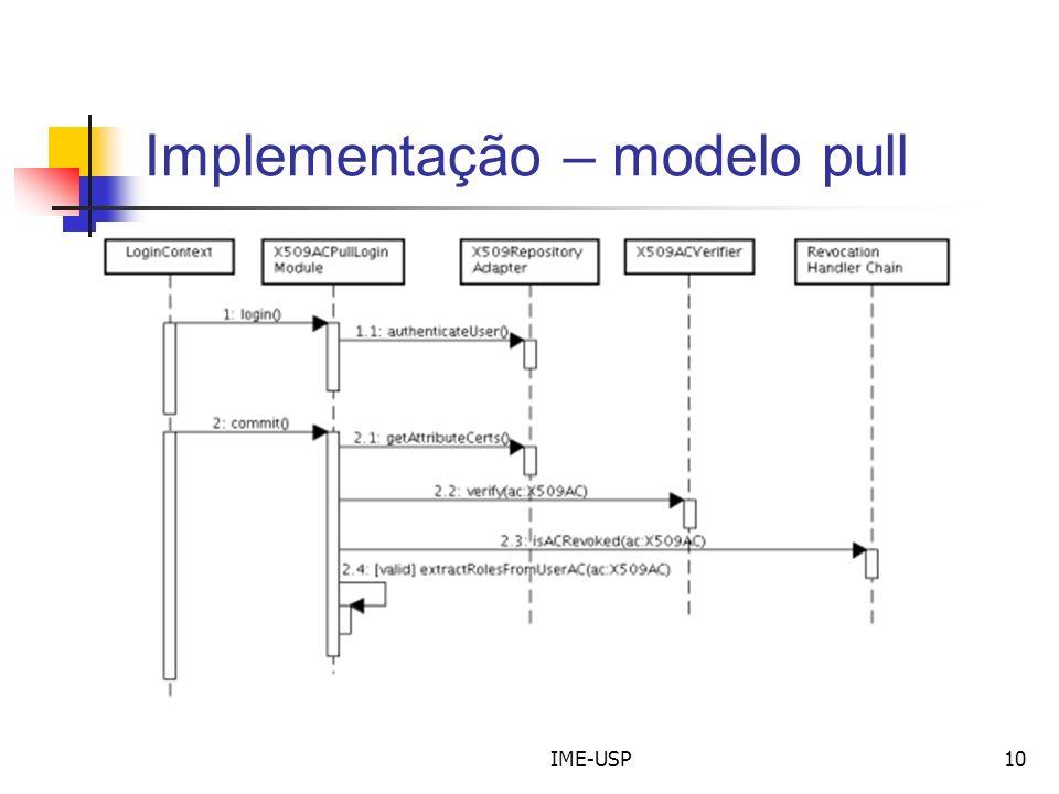 IME-USP10 Implementação – modelo pull
