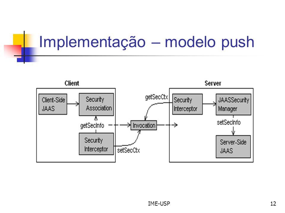 IME-USP12 Implementação – modelo push