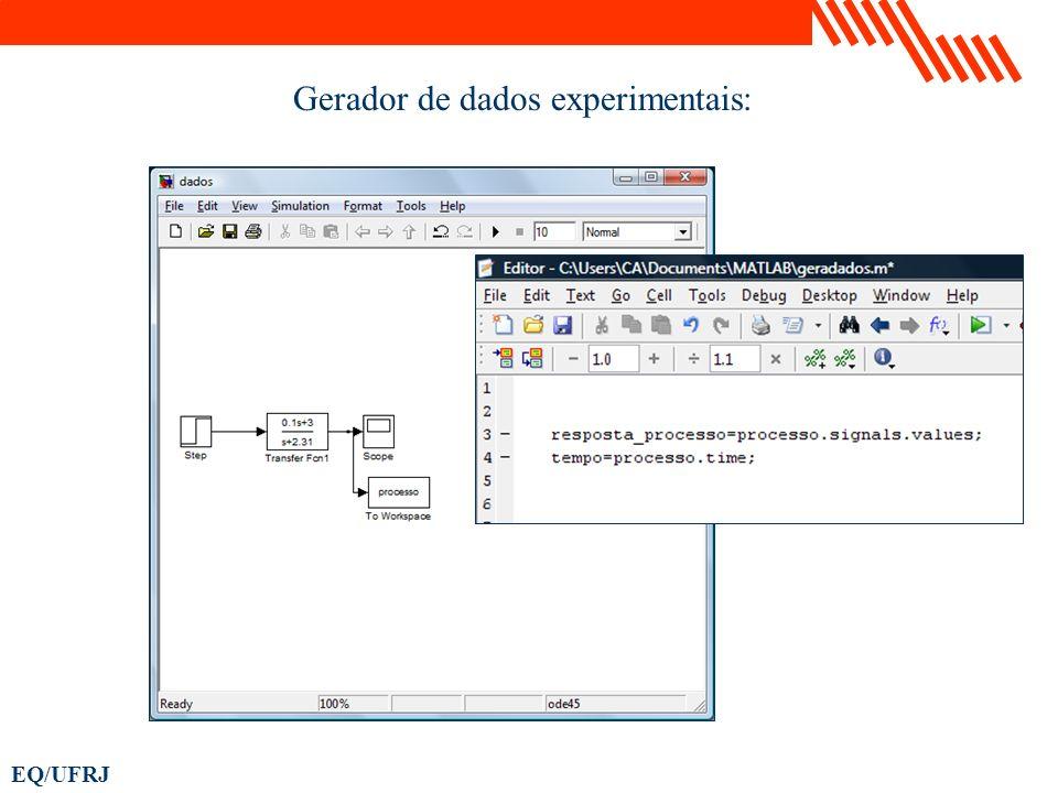 EQ/UFRJ Gerador de dados experimentais: