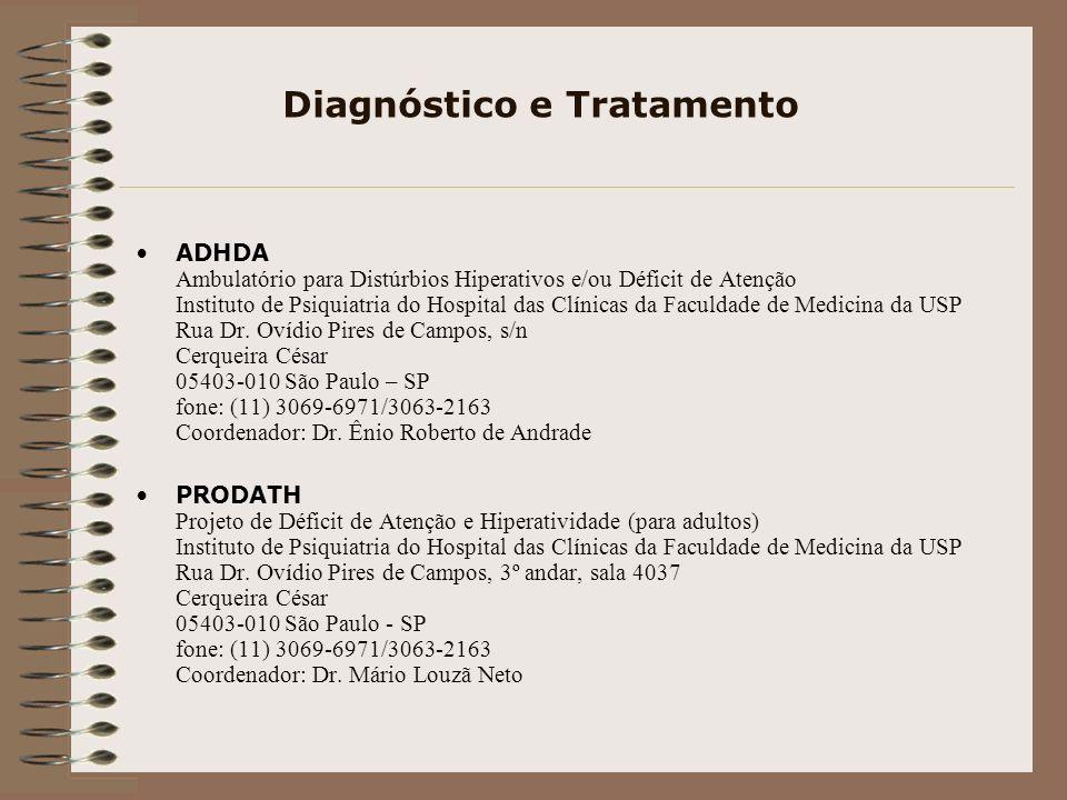 Sites e Links para Pesquisa http://www.tdah.org.br http://www.universotdah.com.br http://www.dda-deficitdeatencao.com.br http://www.autistas.org/tdah.html http://www.tdahecomorbidades.com.br/ http://www.atencaoprofessor.com.br/