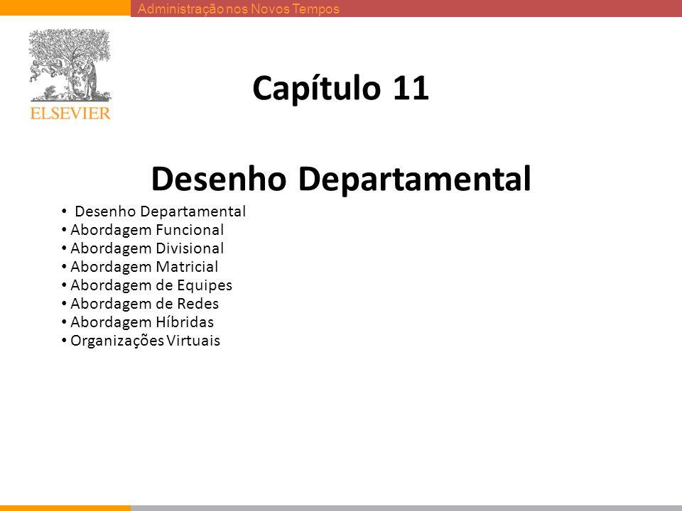 Administração nos Novos Tempos Capítulo 11 Desenho Departamental Desenho Departamental Abordagem Funcional Abordagem Divisional Abordagem Matricial Ab