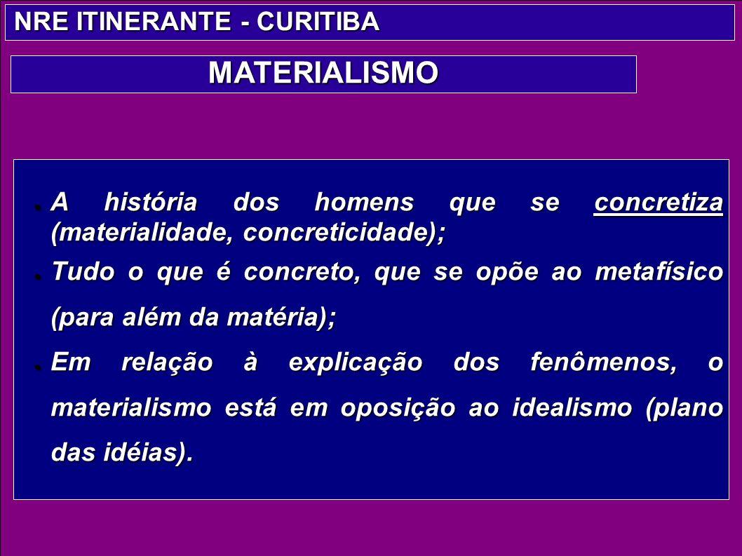A história dos homens que se concretiza (materialidade, concreticidade); A história dos homens que se concretiza (materialidade, concreticidade); Tudo