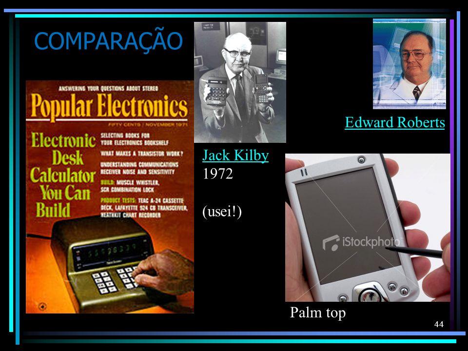 COMPARAÇÃO 44 Palm top Edward Roberts Jack Kilby 1972 (usei!)