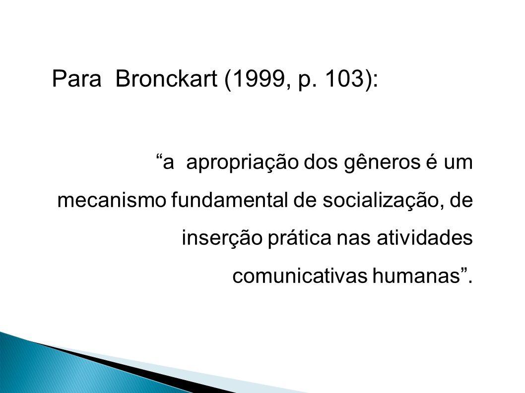 Para Bronckart (1999, p.