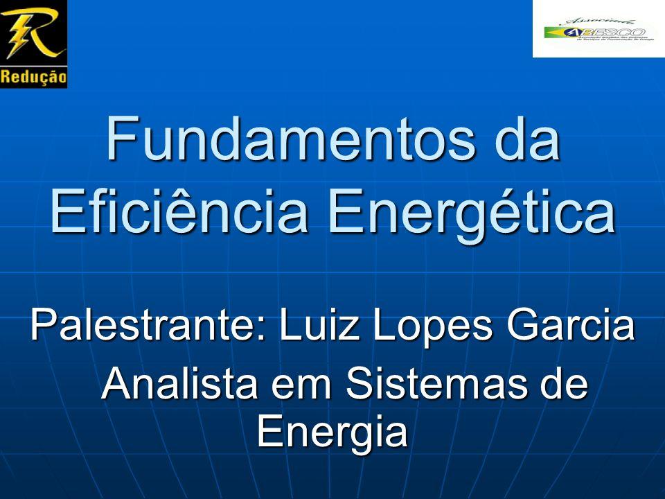 Fundamentos da Eficiência Energética Palestrante: Luiz Lopes Garcia Analista em Sistemas de Energia Analista em Sistemas de Energia