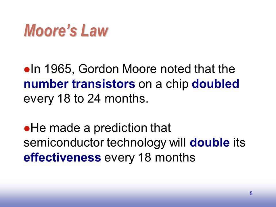 EE141 9 Moores Law Electronics, April 19, 1965.