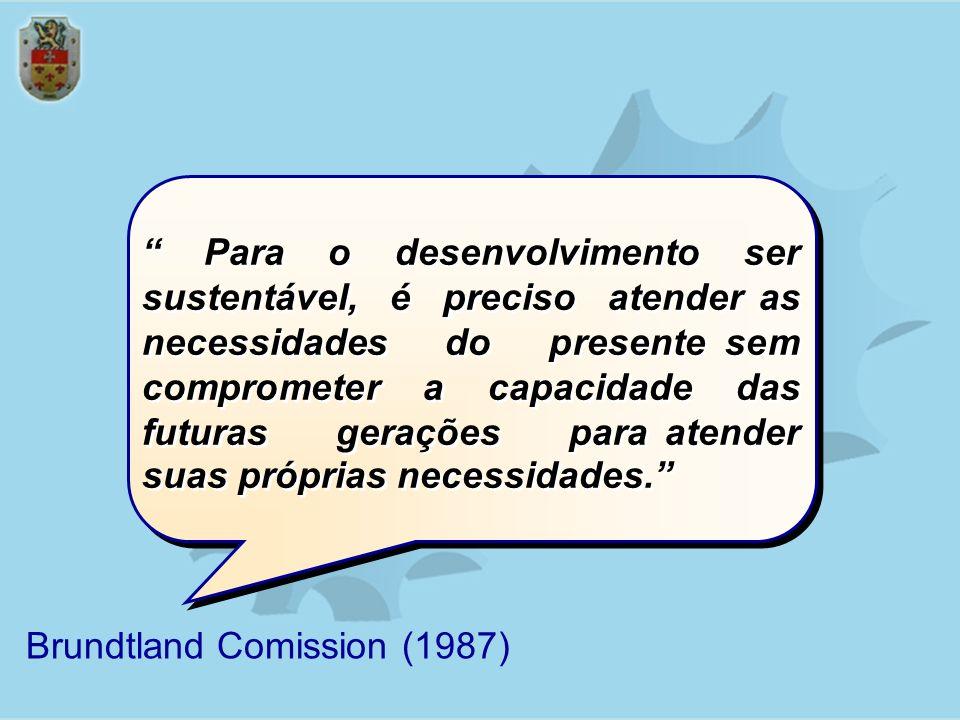 Para o desenvolvimento ser sustentável, é preciso atender as necessidades do presente sem comprometer a capacidade das futuras gerações para atender s