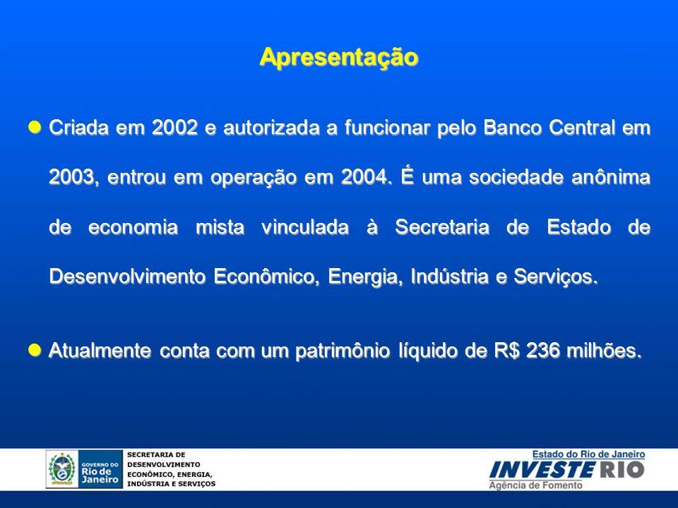 Apresentação Criada em 2002 e autorizada a funcionar pelo Banco Central em 2003, entrou em operação em 2004.