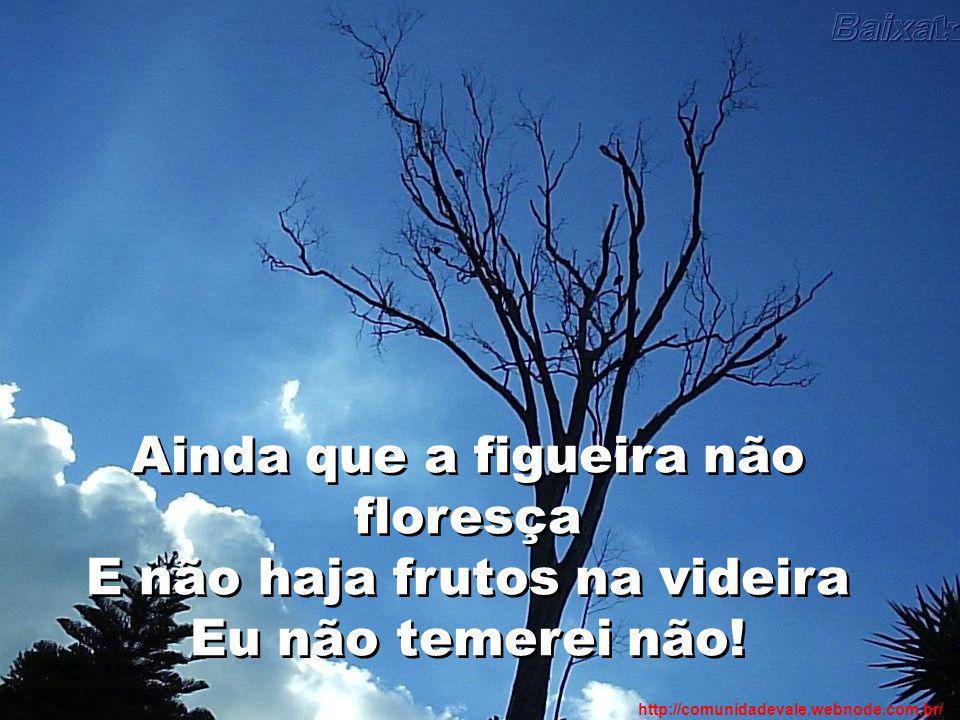Ainda que a figueira não floresça E não haja frutos na videira Eu não temerei não! http://comunidadevale.webnode.com.br/