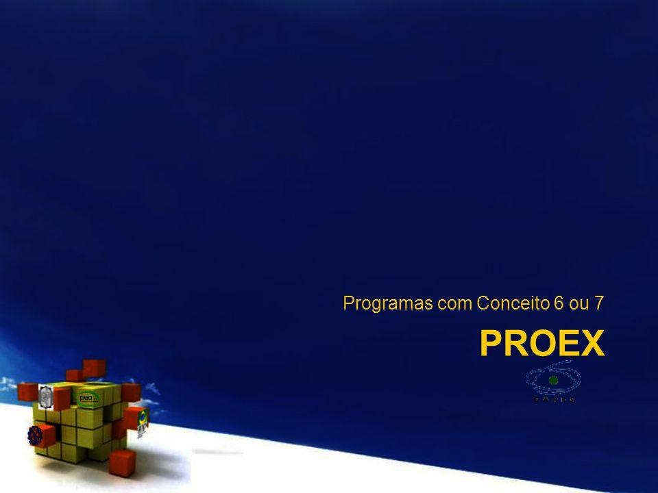 PROEX Programas com Conceito 6 ou 7