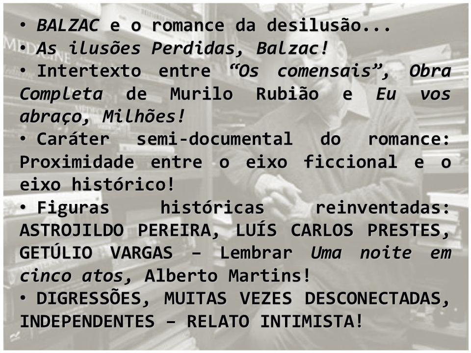 BALZAC e o romance da desilusão... BALZAC e o romance da desilusão... As ilusões Perdidas, Balzac! As ilusões Perdidas, Balzac! Intertexto entre Os co