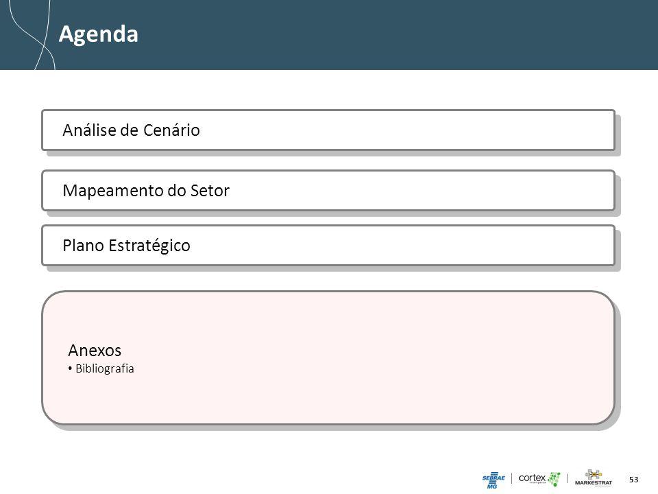 53 Agenda Anexos Bibliografia Anexos Bibliografia Mapeamento do Setor Plano Estratégico Análise de Cenário