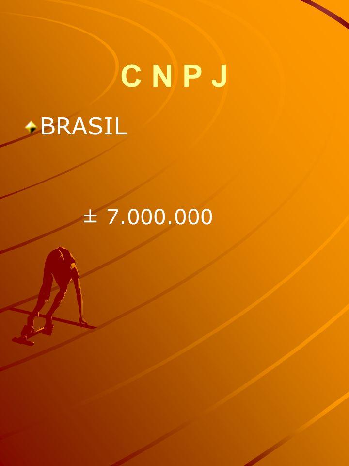 C N P J BRASIL ± 7.000.000