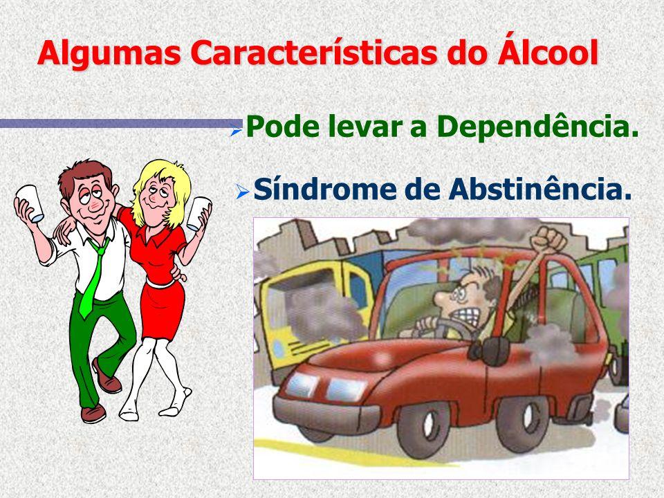 Algumas Características do Álcool É uma Droga. É uma substância que age no cérebro e modifica o estado mental.