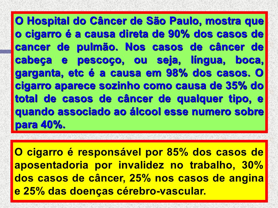 Dados da Associação Brasileira de Acidentes e Medicina de Tráfego afirmam que 35% dos acidentes de trânsito com vitimas são causados pelo álcool e 75%