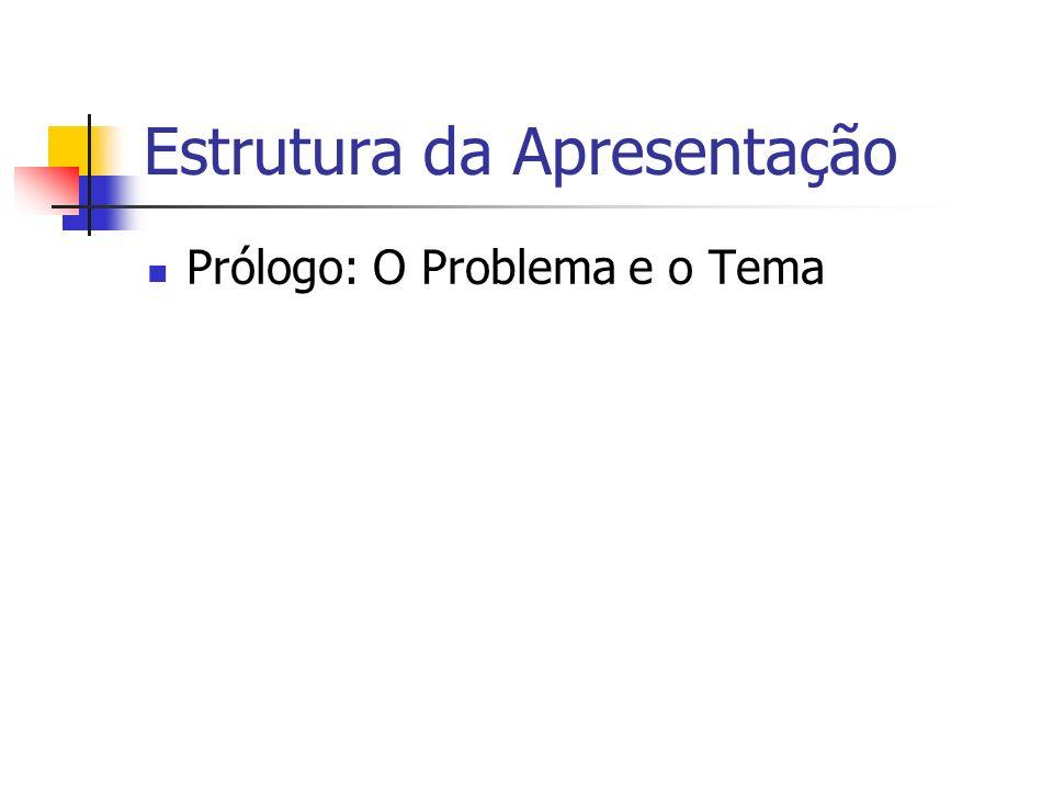 Prólogo: O Problema e o Tema