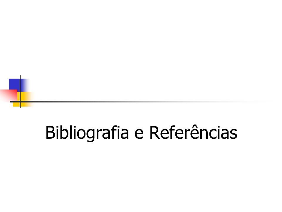 Bibliografia e Referências