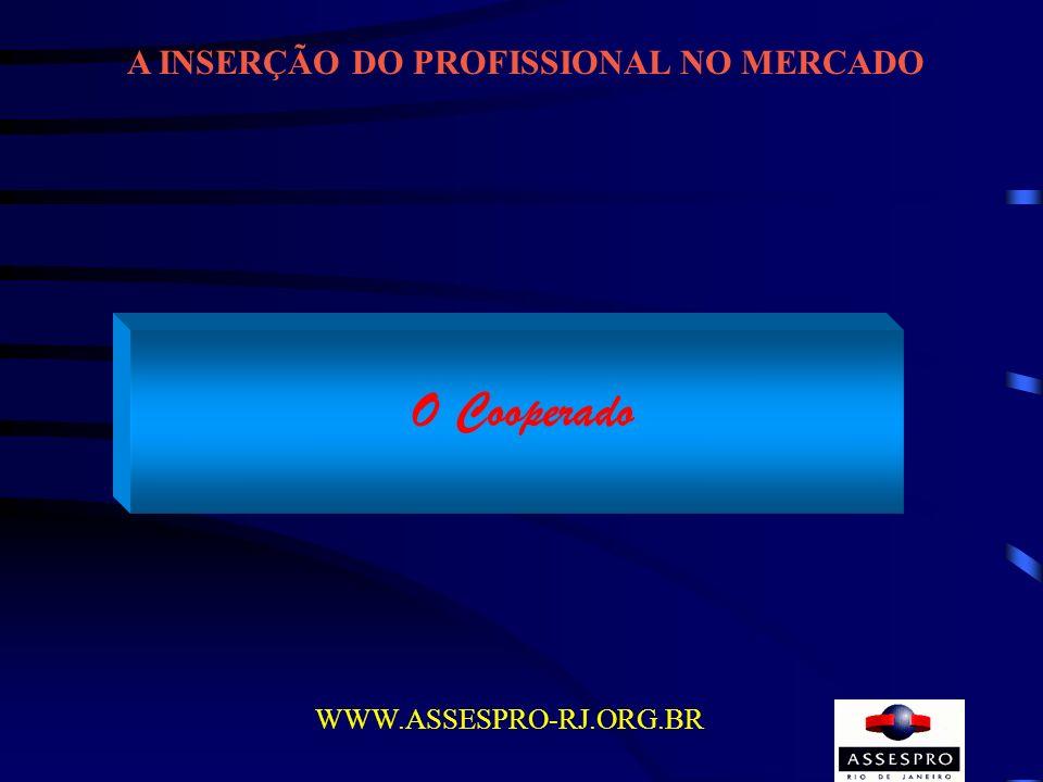 A INSERÇÃO DO PROFISSIONAL NO MERCADO WWW.ASSESPRO-RJ.ORG.BR O Cooperado