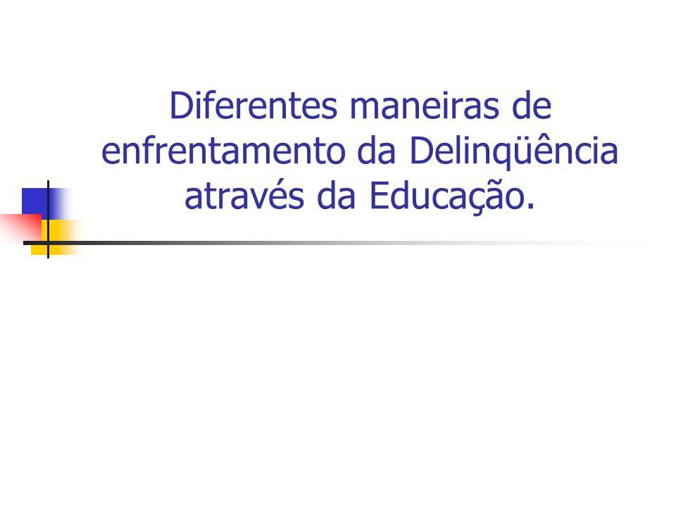 Diferentes maneiras de enfrentamento da Delinqüência através da Educação.