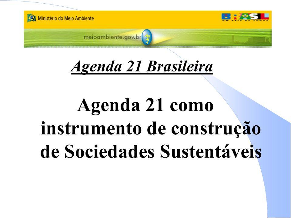 Agenda 21 Brasileira Agenda 21 como instrumento de construção de Sociedades Sustentáveis