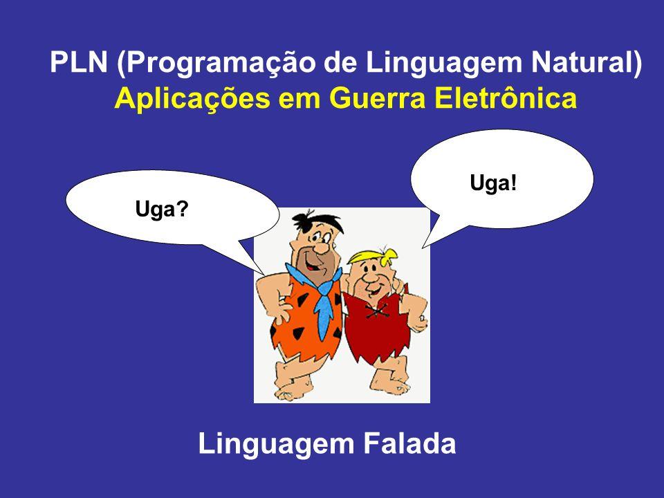 PLN (Programação de Linguagem Natural) Aplicações em Guerra Eletrônica Uga? Uga! Linguagem Falada