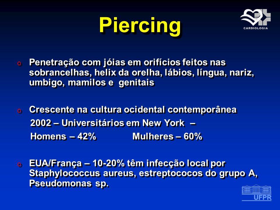 PiercingPiercing o Penetração com jóias em orifícios feitos nas sobrancelhas, helix da orelha, lábios, língua, nariz, umbigo, mamilos e genitais o Cre