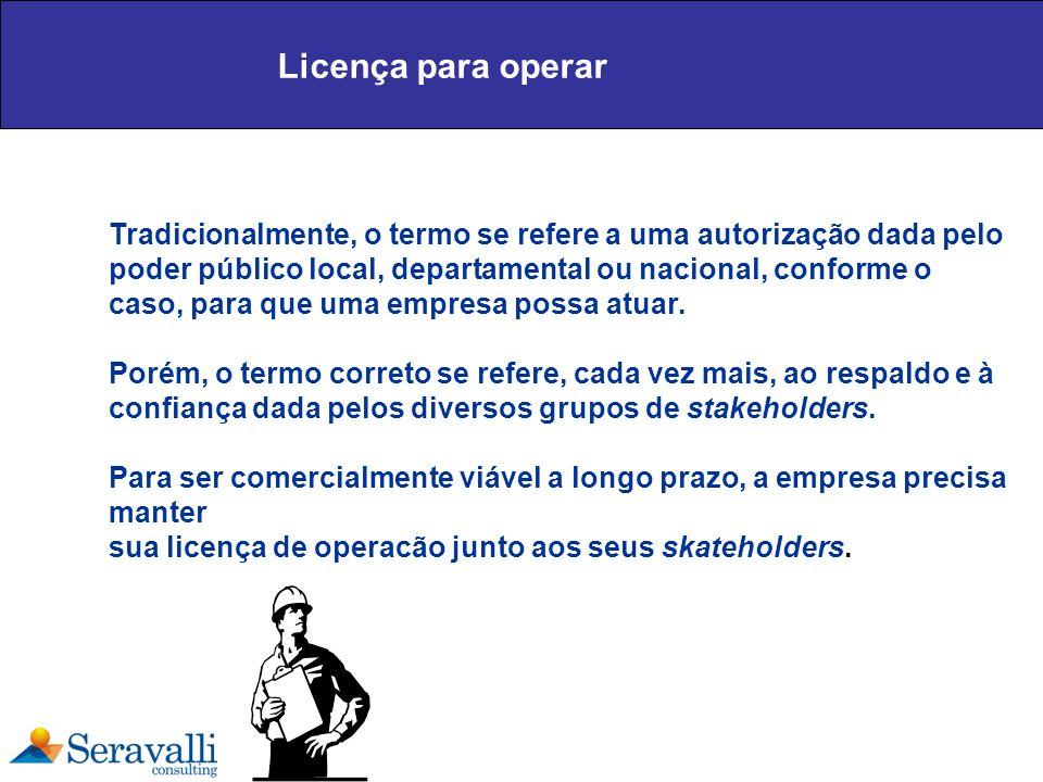 Licença para operar Tradicionalmente, o termo se refere a uma autorização dada pelo poder público local, departamental ou nacional, conforme o caso, p